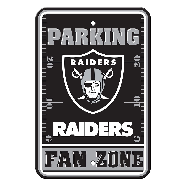 Fremont Die NFL Oakland Raiders Plastic Parking Sign 92204