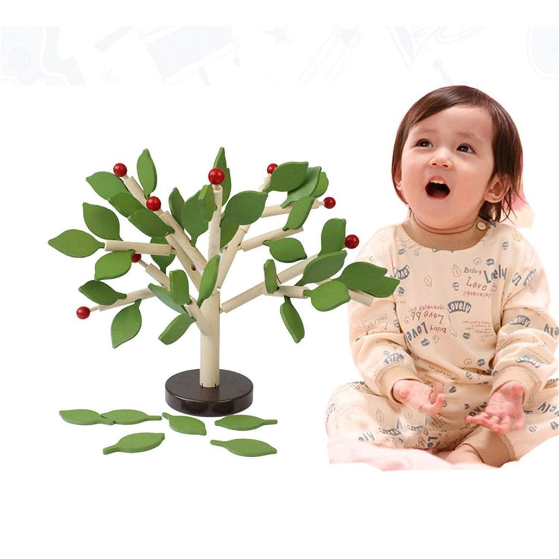 Happy Event Kinder Baby Holz Wooden Stitching Creativity Leaf Tree Lernen p/ädagogisches Spielzeug