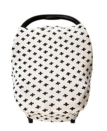 Stretchy Baby Car Seat Cover Canopy with Snaps Multi-use Nursing Shopping Cart  sc 1 st  Amazon.com & Amazon.com: Stretchy Baby Car Seat Cover Canopy with Snaps Multi ...
