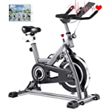FUNMILY Indoor Cycling Bike - Stationary Exercise Bikes with Comfortable Adjustable Seat Cushion & LCD Monitor for…