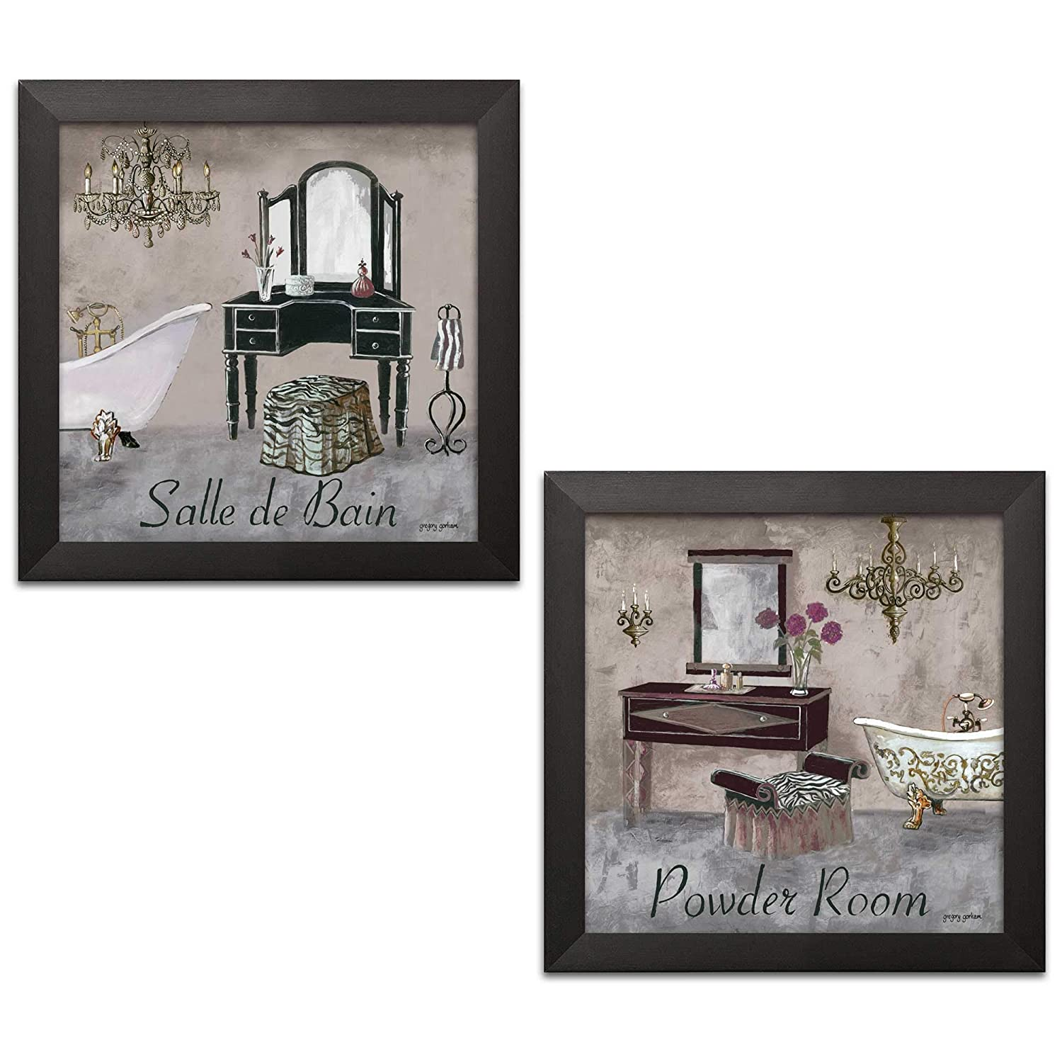 Amazon.com: Gango Editions Vintage French Inspired Powder Room and ...