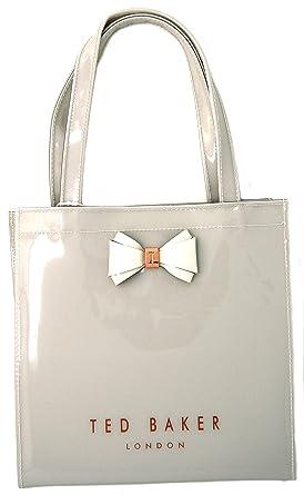 5843f93881867 Ted Baker Aracon Bow Detail Small Shopper Bag - Light Grey  Amazon.co.uk   Clothing