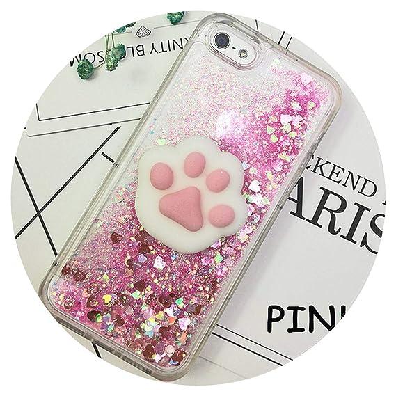 353dfd5708d23c 3D Squishy Cat Case for iPhone 5S SE 7 7 Plus Case Liquid Quicksand Glitter  Silicone