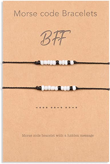 secret message bracelet Morse code bracelet Always minimalist friendship bracelet seed beads bracelet