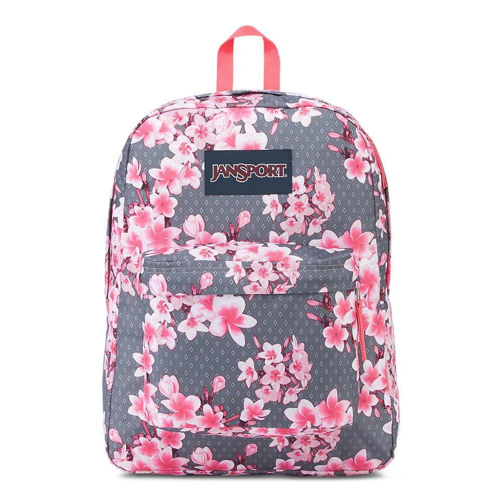 JanSport Superbreak Backpack - Diamond Plumeria Pink