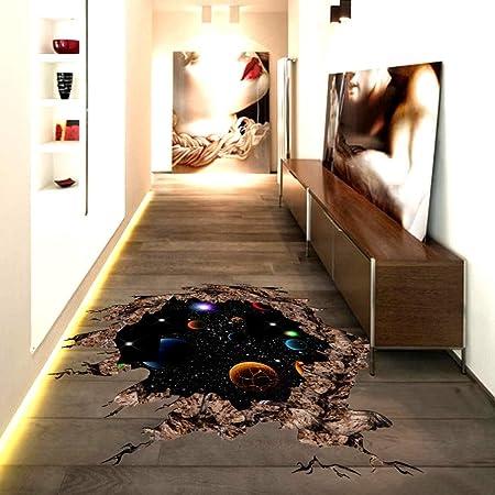 3D Bridge Floor//Wall Sticker Removable Mural Decals Vinyl Art Living-Room Decor