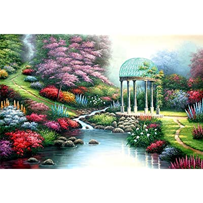 Jigsaw Puzzles 1000 Pieces for Adults Kids Families, Stress Reliever Micro-Sized Puzzles Field Creek Painting Puzzle DIY Colorful Toys Educational Games Difficult Puzzle Art for Men and Women: Toys & Games