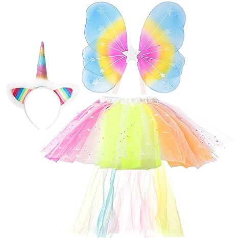 GirlZone Regalos para niñas, Disfraz de Unicornio Traje ...