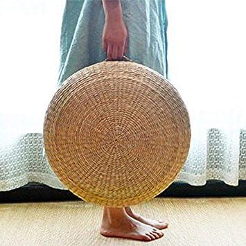 Kiko-ershaa Coussin Paille Tiss/ée Tatami Coussin de Sol Japonais M/éditation Yoga Tapis tiss/é /à la Main Coussins 45 x 15 cm