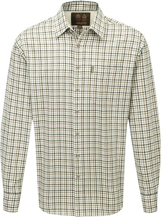 Musto Twill Check Mens Shirt Carrick 15.5: Amazon.es: Ropa y accesorios
