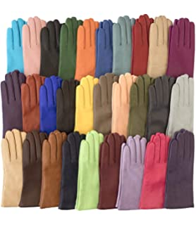 b5759eaf58f00 Fratelli Orsini Everyday Women's Italian Cashmere Lined Leather Gloves
