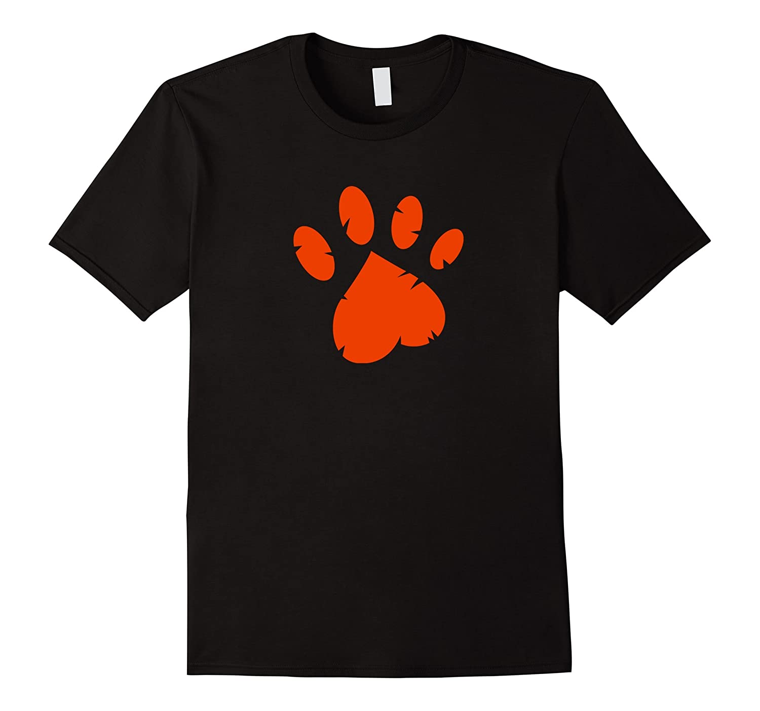 Animal Rescue T-Shirt in Black with Red Paw-TH