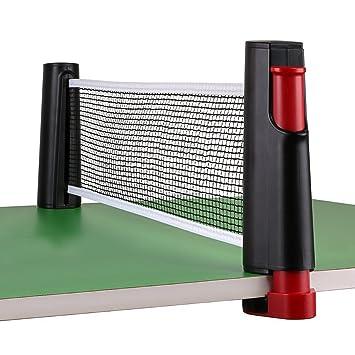 c63923490 HomeYoo - Red de tenis de mesa retráctil portátil para jugar en interiores
