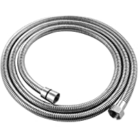 Tecmolog RV Shower Hose 1.5m Flexible Stainless Steel Replacement Shower Hose with Brass Fittings, FHA018