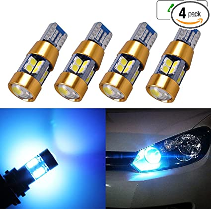 License Plate Lights,cciyu Ice Blue T10 168 194 LED Light Bulb Wedge 5-5050 SMD W5W Light Lamp,2Pack
