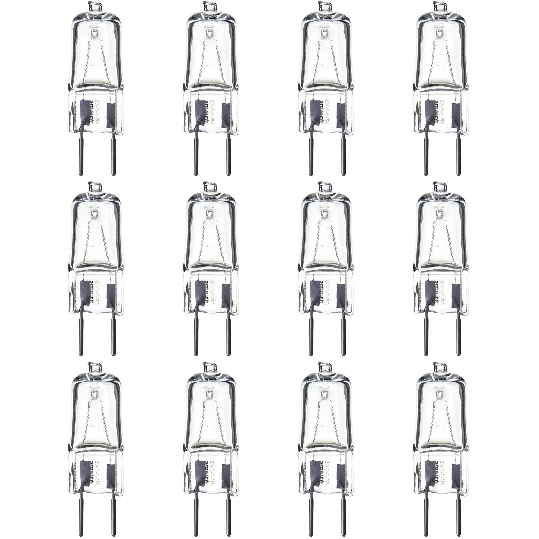 Sunlite Series Q35/CL/GY8/120V/12PK Halogen 35W 120V Q35 Single Ended Capsule Light Bulbs, Clear Finish, 3200K Bright White GY8 Base, 12 Pack