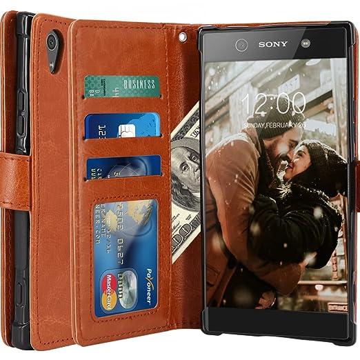 4 opinioni per Custodia Sony Xperia XA1 Ultra, LK Case in Pelle PU di Lusso Portafoglio con