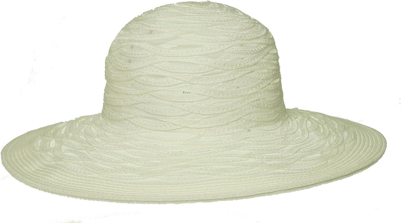 Nine West Sheer Open Super Floppy Hat White ONE SIZE