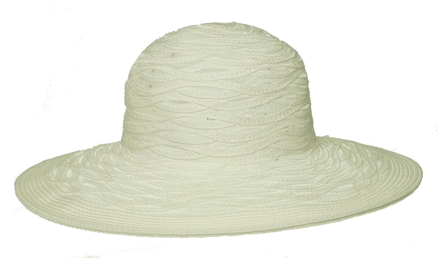 fd2ed12ad63 Nine West Sheer Open Super Floppy Hat White ONE SIZE at Amazon Men s  Clothing store