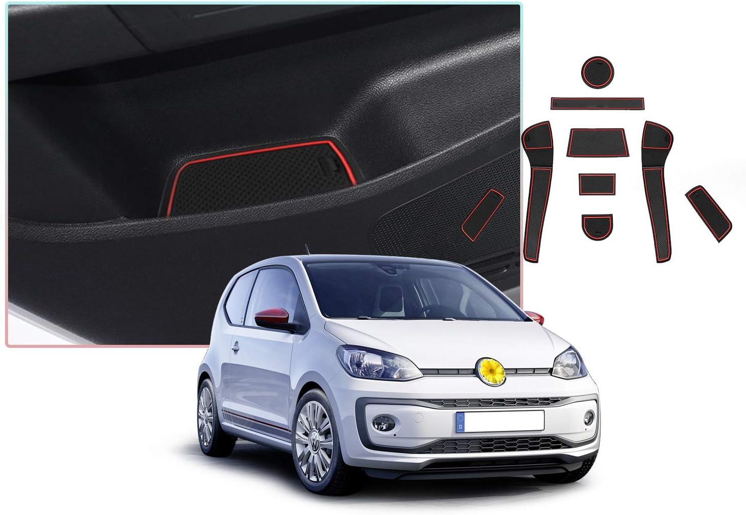Cdefg Für V W Up Skoda Citigo Seat Mii Auto Innere Türschlitz Rutschfest Anti Staub Becherhalter Matte Arm Box Aufbewahrung Pads Auto