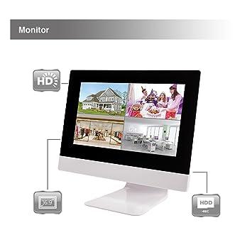 Wifi Inalámbrico W de LAN IP Vigilancia NVR Videovigilancia con gran alcance para uso en interior y exterior y timbre: Amazon.es: Electrónica
