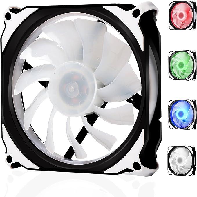 LATOW Ventilador PC, RGB 120mm Ventilador de Ordenador, Silencioso ...