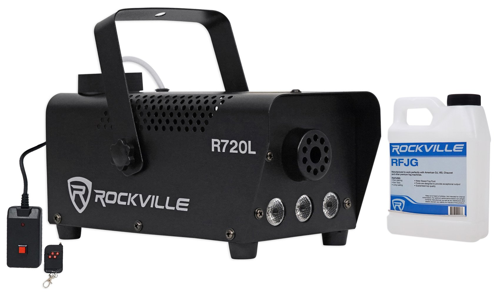 Rockville R720L Fog/Smoke Machine+Remote+Multi Color LED Built In!+Gallon Fluid