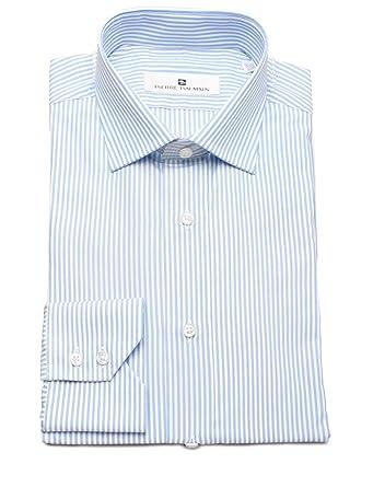 f56d9d9f6c Image Unavailable. Image not available for. Color: Pierre Balmain Men Slim  Fit Cotton Dress Shirt Stripe ...