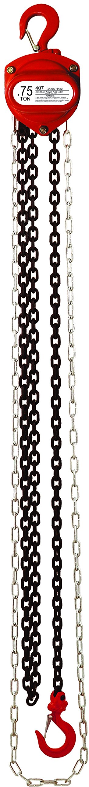 American Power Pull 407-20 .75 Ton Chain Block with 20' Lift