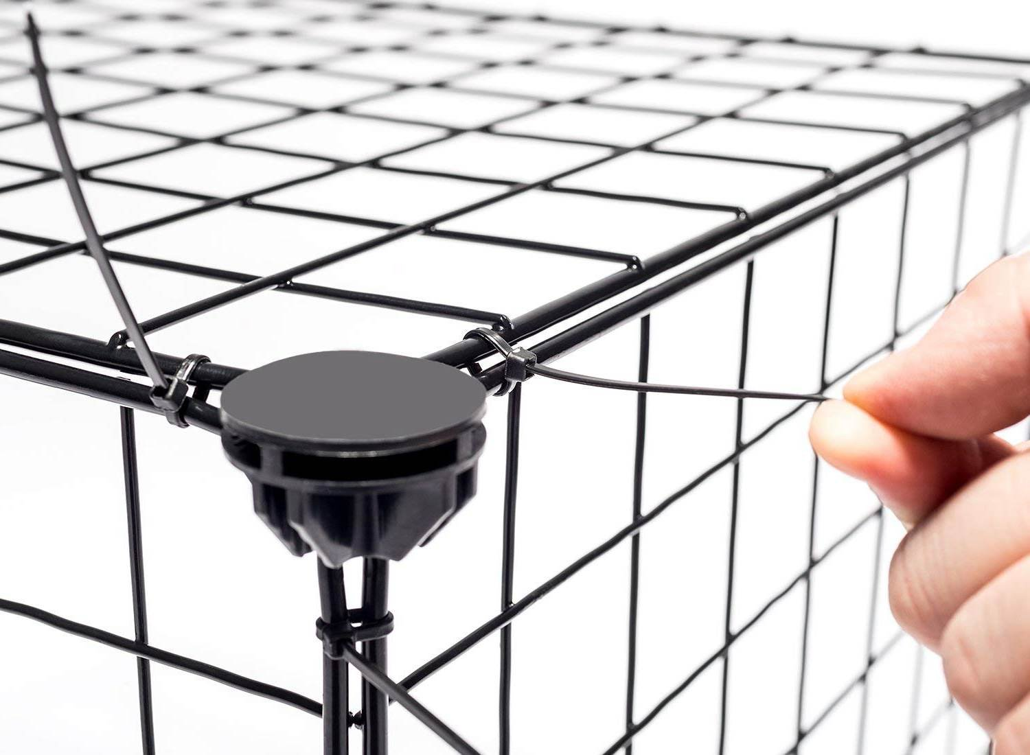 JYYG Small Pet Pen Bunny Cage Dogs Playpen Indoor Out Door Animal Fence Puppy Guinea Pigs, Dwarf Rabbits PET-F (36 Panels, Black) by JYYG (Image #6)