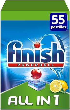 Finish Todo en 1 Original Limón Pastillas para Lavavajillas - 55 ...