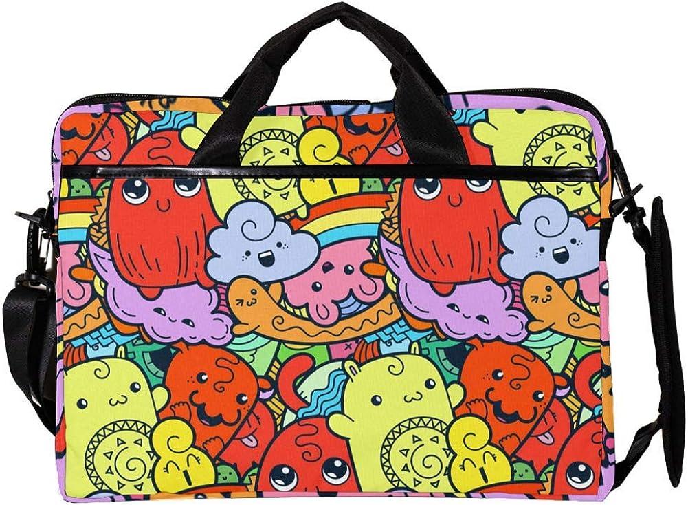 Lightweight 15 inch Laptop Bag Business Messenger Briefcases Cute-Dolls Waterproof Computer Tablet Shoulder Bag Carrying Case Handbag for Men and Women