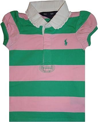 Ralph Lauren Bebé niña Polo Camiseta de Rugby de Manga Corta ...