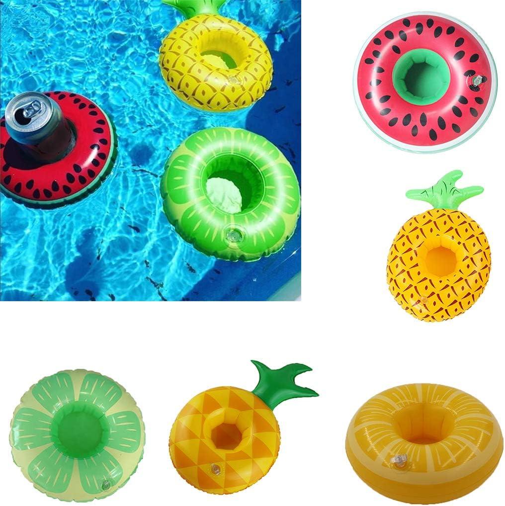 Demino Pool di Frutta Forma Bevanda Gonfiabile portabicchieri Anguria portabicchieri Bevanda Tazza Ananas Limone Galleggiante Coasters 4