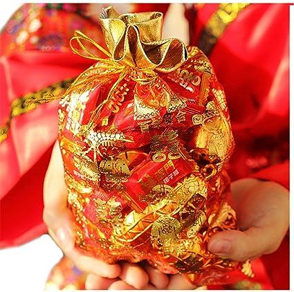 Amazon Freedi 100pcs Organza Drawstring Jewelry Bags Wedding