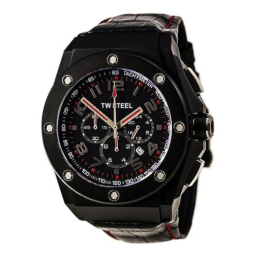 Tw Steel Reloj analogico para Hombre de Cuarzo con Correa en Piel CE4009: Amazon.es: Relojes