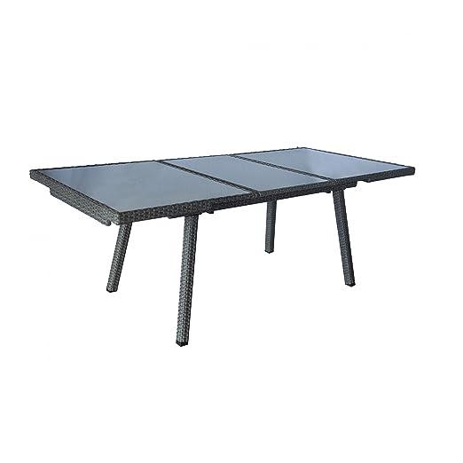 Mesa extensible mesa de jardín terraza mesa 160/220 x 100 x 75 cm ...