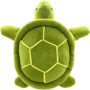 JESONN Realistic Stuffed Marine Animals Toys Turtle Plush Tortoise (Green, 12.6 Inches)