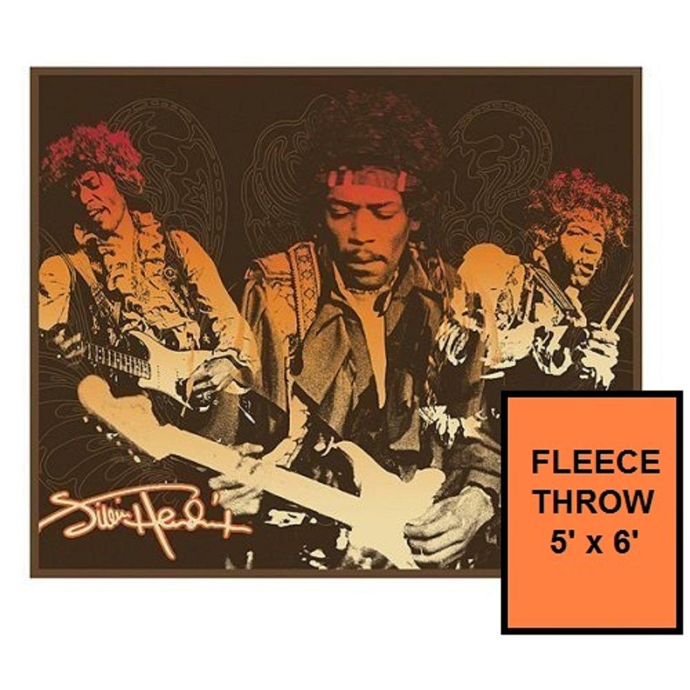 Jimi Hendrix 5 ' X 6 ' Fleece Throw Blanket B01DQ1ON6Q