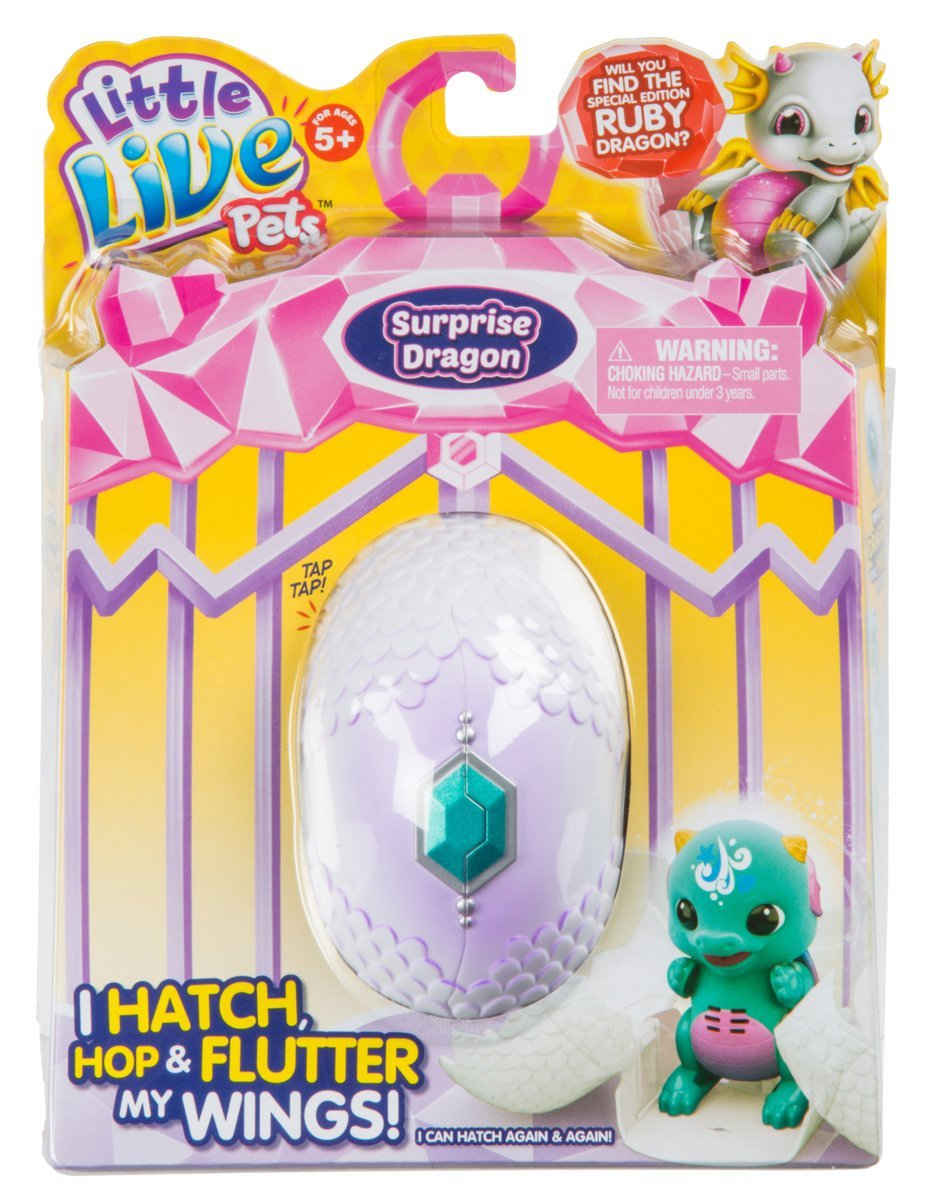 Little Live Pets Surprise Dragon Single Pack Childrens Toy Blue//Green