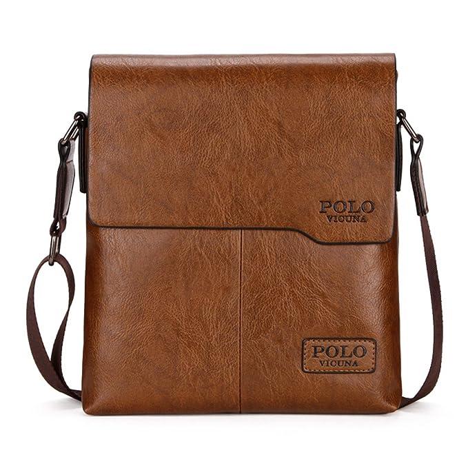 VICUNA POLO - Bolso bandolera marrón caqui: Amazon.es: Ropa y ...