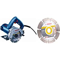Bosch GDC 121 Marble Cutter 5 Inch GDC 121 with 2608603329 Diamond Cutting Disc, Best for Universal, 125 x 22.23 x 12 mm Segment Combo