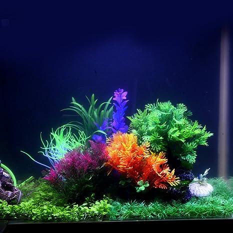 Saim - Plantas Artificiales de plástico para Acuario, Decoración de Acuario Realista, Hojas acuáticas