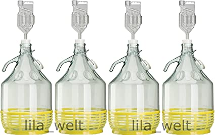 Set de 4 x 5L Bügel Botella tapón + + gärr öhr Chen Vino Globo ...