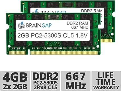 Brainsap 4gb Ddr2 Ram Dual Channel Kit So Dimm Computer Zubehör