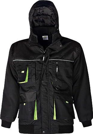 Arbeitsjacke Bundjacke Jacke schwarz//grün Gr M
