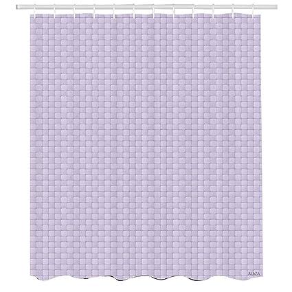Purple Grey Shower CurtainMosaic Tiles Pattern Contemporary Style Checkered Squares MiAAnimalist DesignCloth