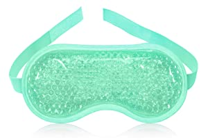 Cold Gel Eye Mask - Gel Bead Sleep Ice Pack - Hot Cold Therapy Compress - Cooling Face Pads - Cool Dark Circles Eyes Masks - Puffy Sleeping Relief Packs - Reusable Spa Relaxing Facial Eyemask