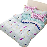 Sookie Duvet Cover Set with 2 Pillow Shams Blue Duvet Small mermaid Bedding - Twin