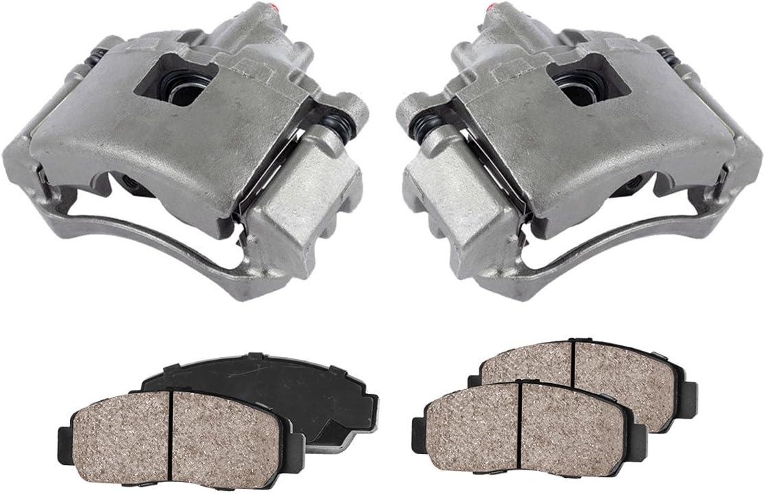 CCK11312 FRONT Premium Loaded OE Caliper Assembly Set Quiet Low Dust Ceramic Brake Pads 2